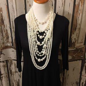 Jewelry - Multi-Strand Faux Pearl Neclkace